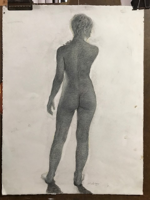 Newberry, Eve Backlit, graphite,