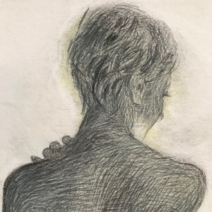 Newberry, Eve Backlit, graphite, head