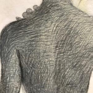 Newberry, Eve Backlit, graphite, upper back