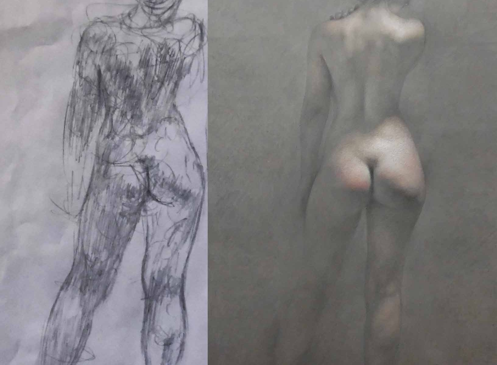 Newberry, Eve and gesture sketch