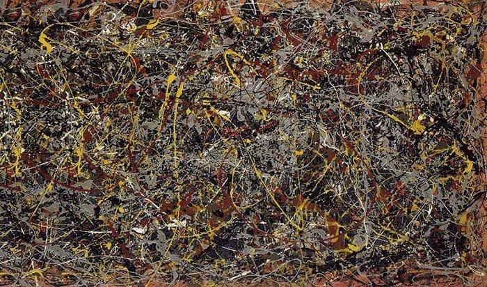 "Jackson Pollock, No. 5, 1948, 48x96"""