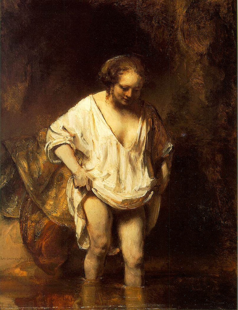 Rembrandt, A Woman Bathing,1654, National Gallery, London
