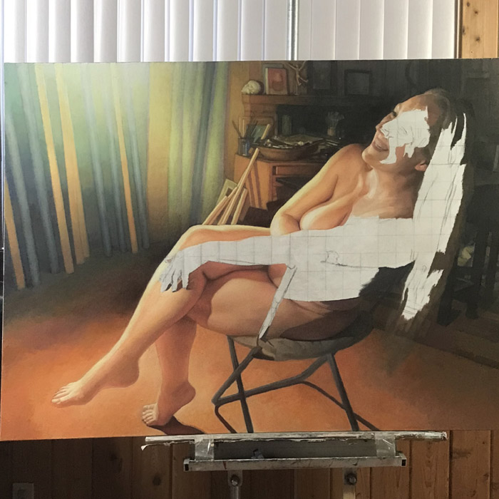 Newberry, wip, Danae, oil, feb 20, 2021