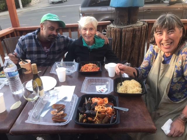 Luxman, Susan, and Petia, Newberry Idyllwild Pastel Plein Air Workshop, 2021