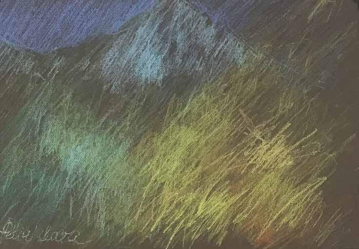 Petia Lilova, Tahquitz Rock, Newberry Idyllwild Pastel Plein Air Workshop, 2021