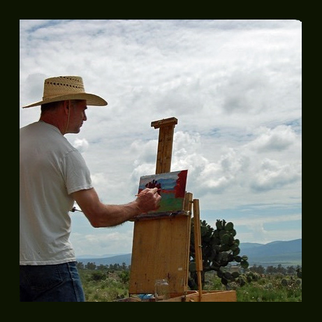 Michael Newberry, giving a plein air demo near San Luis Potosi